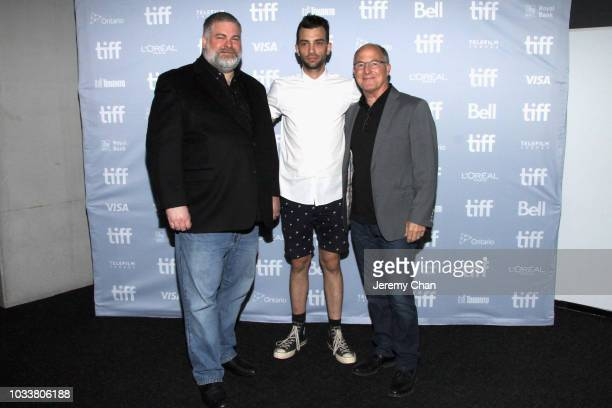 Dean DeBlois Jay Baruchel and Brad Lewis attend the 'How To Train Your Dragon The Hidden World' A BehindTheScenes Look during 2018 Toronto...