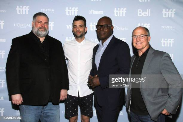 Dean DeBlois Jay Baruchel Cameron Bailey and Brad Lewis attend the 'How To Train Your Dragon The Hidden World' A BehindTheScenes Look during 2018...