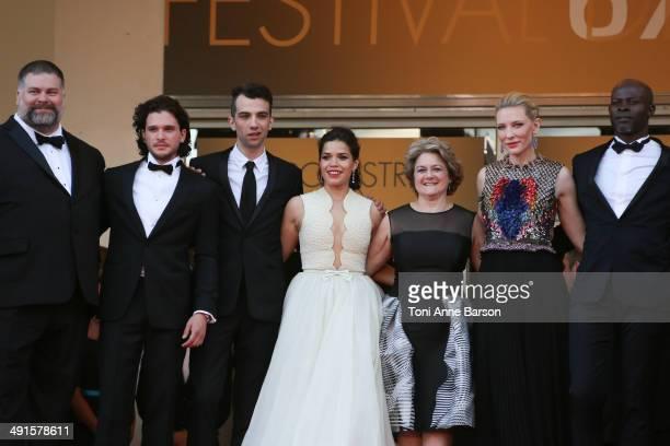 "Dean DeBlois, Kit Harington, Jay Baruchel, America Ferrera, Bonnie Arnold, Cate Blanchett and Djimon Hounsou attend the ""How To Train Your Dragon 2""..."