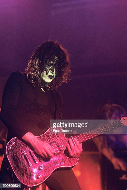 Dean DeLeo performing in Kiss make up with Stone Temple Pilots at Roseland in New York City on August 3 1993