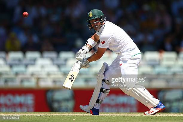 Dean Elgar of South Africa bats during day three of the First Test match between Australia and South Africa at the WACA on November 5 2016 in Perth...