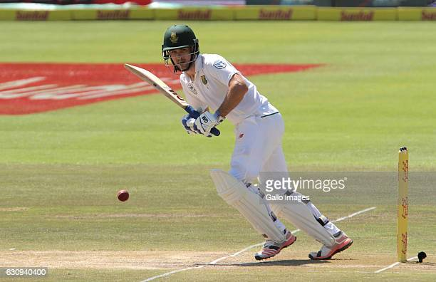 Dean Elgar of South Africa during day 3 of the 2nd test between South Africa and Sri Lanka at PPC Newlands on January 04 2107 in Cape Town South...