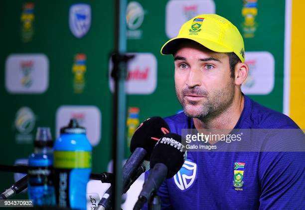 Dean Elgar of South Africa during the South African national mens cricket team training session and press conference at PPC Newlands Stadium on March...