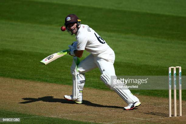 Dean Elgar of Surrey bats during day one of the Division One Specsavers County Championship match between Surrey and Hampshire at The Kia Oval on...