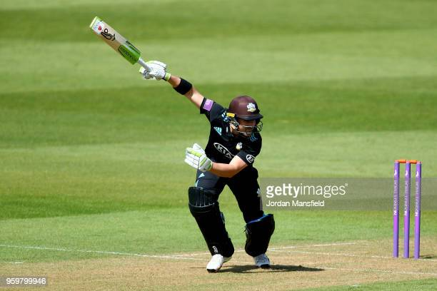 Dean Elgar of Surrey bats during the Royal London OneDay Cup match between Surrey and Somerset at The Kia Oval on May 18 2018 in London England