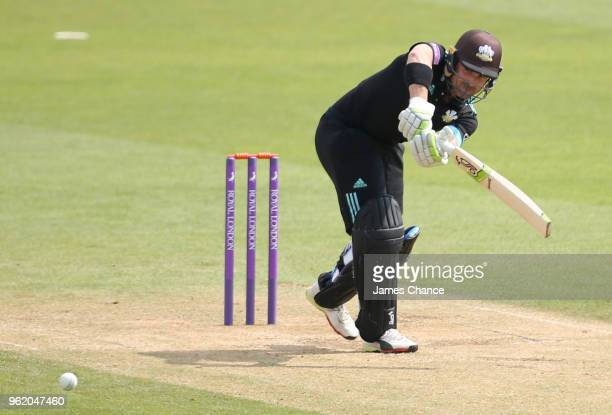 Dean Elgar of Surrey bats during the Royal London OneDay Cup match between Surrey and Gloucestershire at The Kia Oval on May 23 2018 in London England