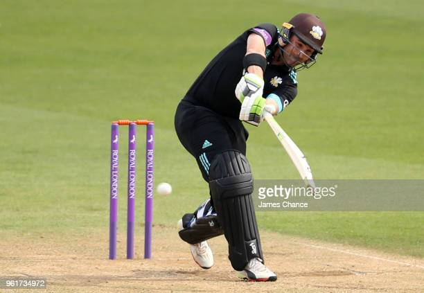 Dean Elgar of Surrey in action during the Royal London OneDay Cup match between Surrey and Gloucestershire at The Kia Oval on May 23 2018 in London...