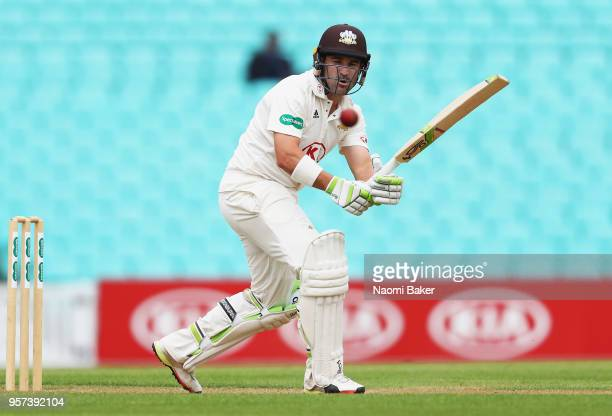 Dean Elgar of Surrey in action during the Specsavers County Championship Division One match between Surrey and Yorkshire at The Kia Oval on May 11...