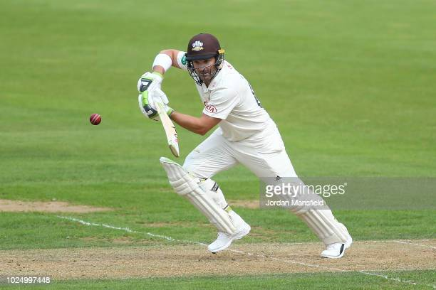 Dean Elgar or Surrey bats during day one of the Specsavers County Championship Division One match between Surrey and Nottinghamshire at The Kia Oval...