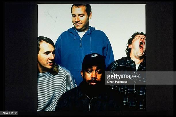 Dean Felber Mark Bryan Darius Rucker Jim Soni Sonefeld of rock group Hootie the Blowfish