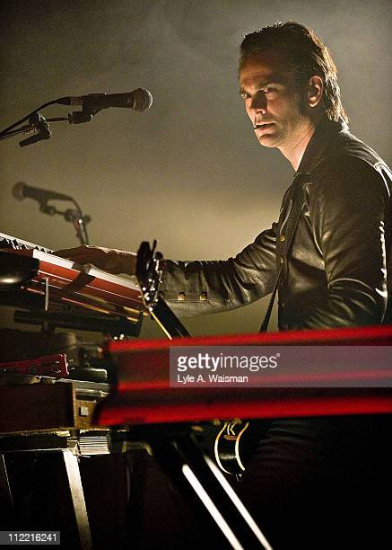 Dean Fertita of Queens of the Stone Age performs at the Riviera Theatre on April 1, 2011 in Chicago, Illinois.