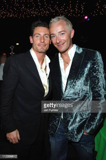 Dean Gaffney and Scott Henshall during Capital Rocks Party Inside at Battersea Park Events Arena in London United Kingdom