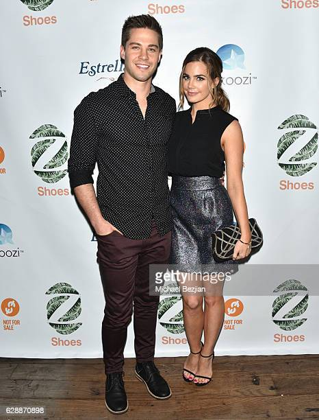 Dean Geyer and actress Jillian Murray arrive at Not For Sale x Z Shoes Benefit at Estrella Sunset on December 9, 2016 in West Hollywood, California.