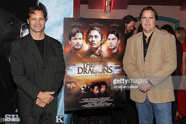 Dean Hamilton and Jim Townsend attend the There Be Dragons Secret Of Fashion Los Angeles Screening on December 7 2011 in Marina del Rey California