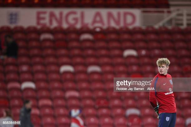 Dean Henderson of England U21 during the UEFA European Under 21 Championship Qualifiers fixture between England U21 and Scotland U21 at Riverside...
