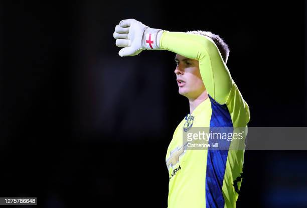 Dean Henderson of Manchest United during the Carabao Cup Third Round match between Luton Town and Manchester United at Kenilworth Road on September...