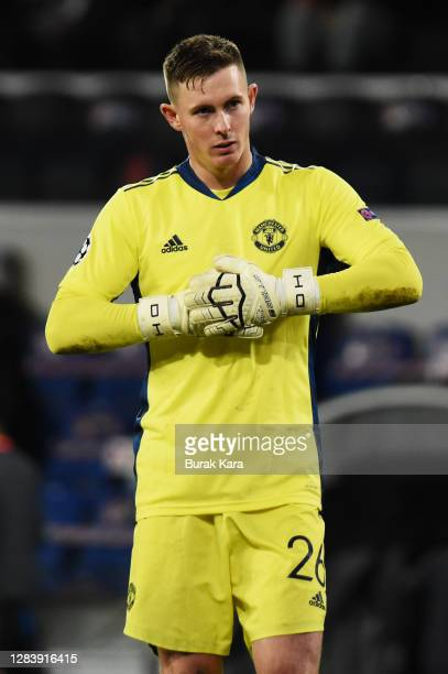 Dean Henderson of Manchester United looks on during the UEFA Champions League Group H stage match between Istanbul Basaksehir and Manchester United...