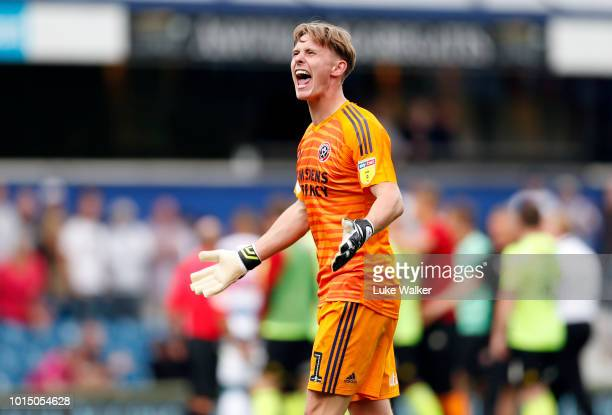 Dean Henderson of Sheffield United during the Sky Bet Championship match between Queens Park Rangers and Sheffield United at Loftus Road on August 11...