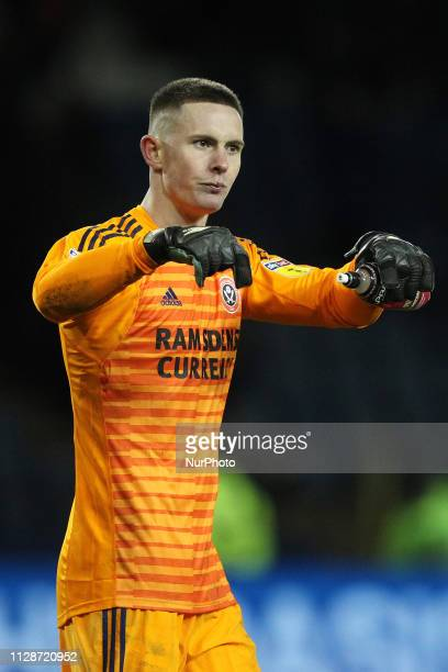 Dean Henderson of Sheffield United during the Sky Bet Championship match between Sheffield Wednesday and Sheffield United at Hillsborough Sheffield...