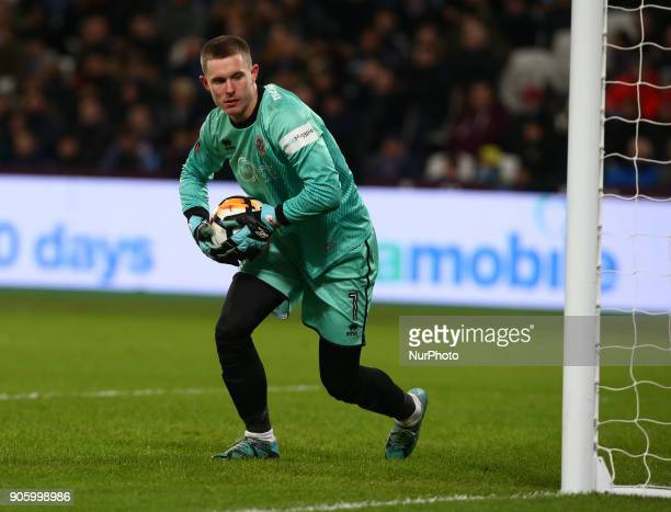 Dean Henderson of Shrewsbury Town during FA Cup 3rd Round reply match between West Ham United against Shrewsbury Town at The London Stadium Queen...