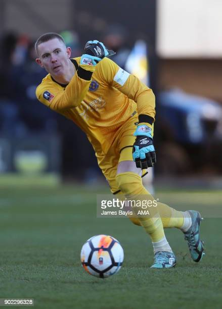 Dean Henderson of Shrewsbury Town during The Emirates FA Cup Third Round between Shrewsbury Town and West Ham United at New Meadow on January 7 2018...