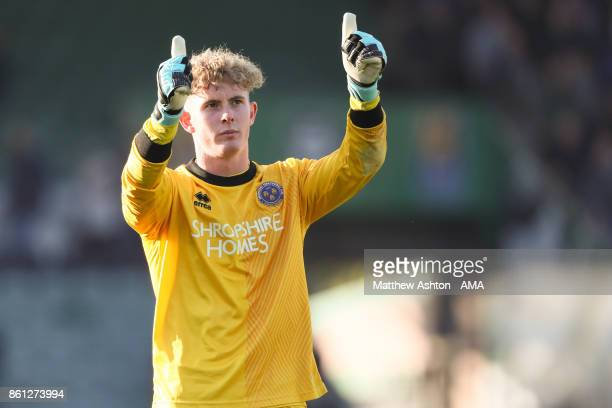 Dean Henderson of Shrewsbury Town during the Sky Bet League One match between Plymouth Argyle and Shrewsbury Town at Home Park on October 14 2017 in...