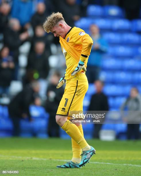Dean Henderson of Shrewsbury Town during the Sky Bet League One match between Peterborough United and Shrewsbury Town at ABAX Stadium on October 28...