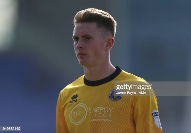 Dean Henderson of Shrewsbury Town during the Sky Bet League One match between Shrewsbury Town and Bury at New Meadow on April 21 2018 in Shrewsbury...