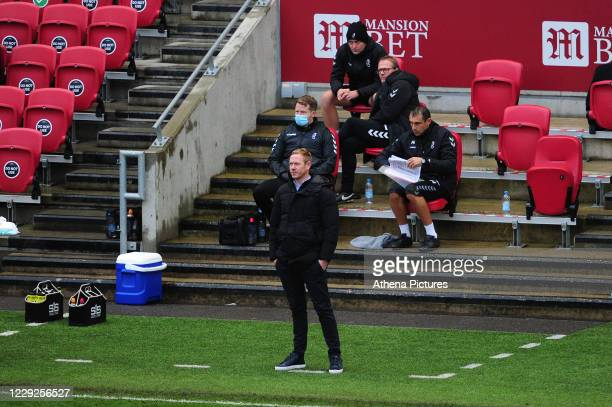 Dean Holden Manager of Bristol City during the Sky Bet Championship match between Bristol City and Swansea City at Ashton Gate on October 24 2020 in...