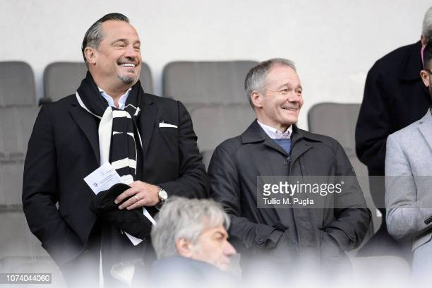 Dean Holdsworth and Clive Richardson looks on in vip standing during the Serie B match between US Citta di Palermo and AS Livorno at Stadio Renzo...