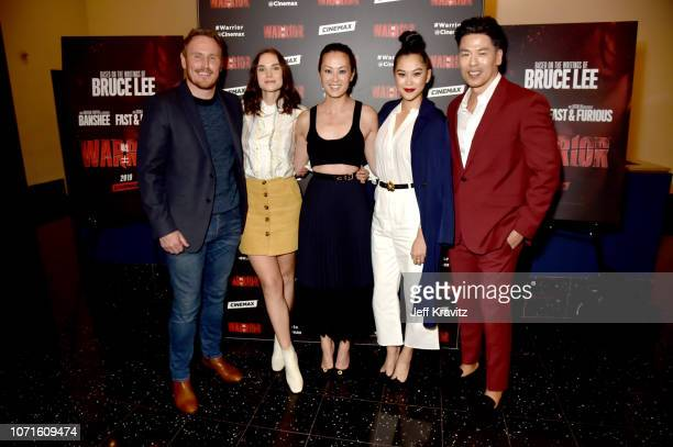 Dean Jagger Joanna Vanderham Olivia Cheng Dianne Doan Rich Ting at the Cinemax Sneak Peek of Warrior With Justin Lin Shannon Lee and Jonathan Tropper...