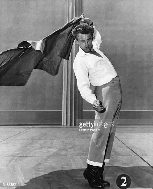 Dean, James - Actor, USA*-+- full-figure portrait- dancing- undated, ca. 1950- Published by: 'Brigitte' 02/1957Vintage property of ullstein bild