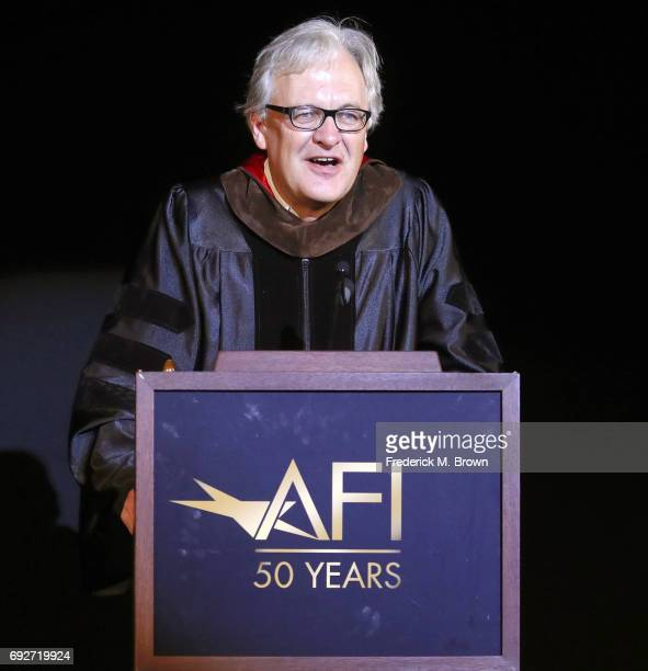 Dean Jan Schuette speaks during AFI's Conservatory Commencement Ceremony at the TCL Chinese Theatre on June 5 2017 in Hollywood California