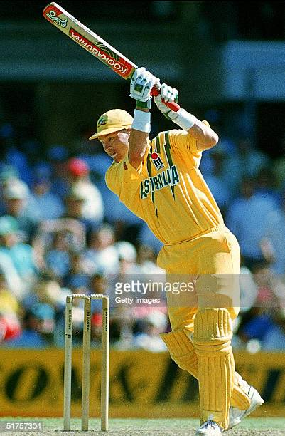Dean Jones of Australia in action during the second One Day International Final match between Australia and South Africa at the Sydney Cricket Ground...