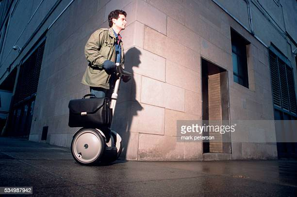 Dean Kamen and his invention the Segway Human Transporter Photo by Mark Peterson/Corbis SABA