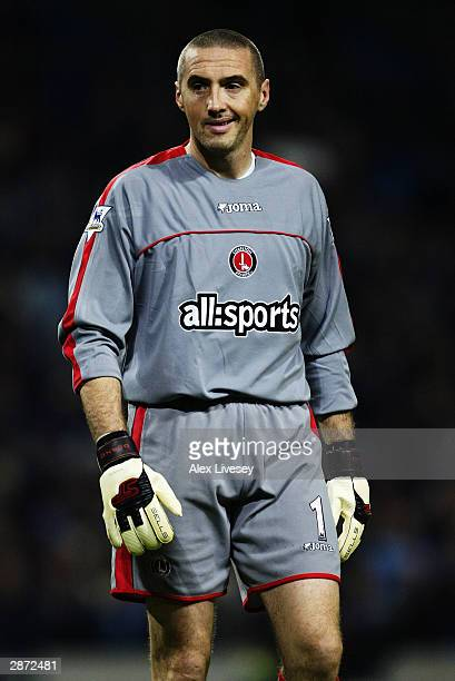 Dean Kiely of Charlton Athletic in action during the FA Barclaycard Premiership match between Manchester City and Charlton Athletic on January 7 2004...