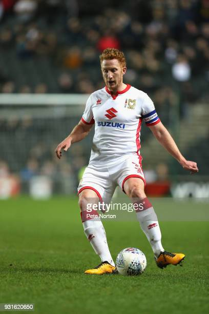 Dean Lewington of Milton Keynes Dons in action during the Sky Bet League One match between Milton Keynes Dons and Rotherham United at StadiumMK on...
