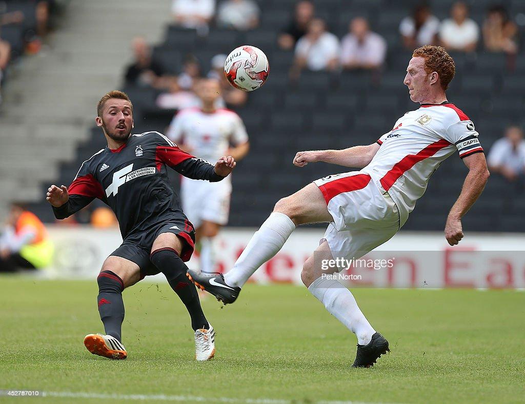 MK Dons v Nottingham Forest - Pre-Season Friendly : News Photo