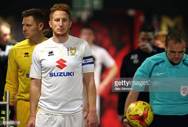 Dean Lewington of MK Dons waits in the tunnel to lead his side out prior to the Sky Bet League One match between Milton Keynes Dons and AFC Wimbledon...