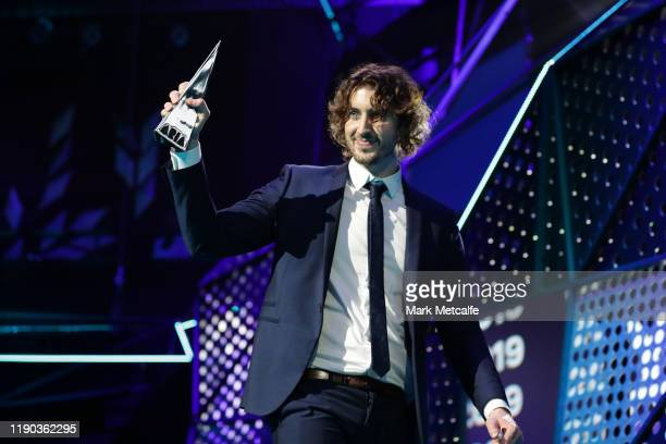 Dean Lewis accepts the ARIA Award for Album of The Year during the 33rd Annual ARIA Awards 2019 at The Star on November 27 2019 in Sydney Australia