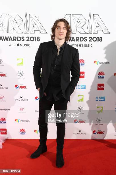 Dean Lewis arrives for the 32nd Annual ARIA Awards 2018 at The Star on November 28 2018 in Sydney Australia