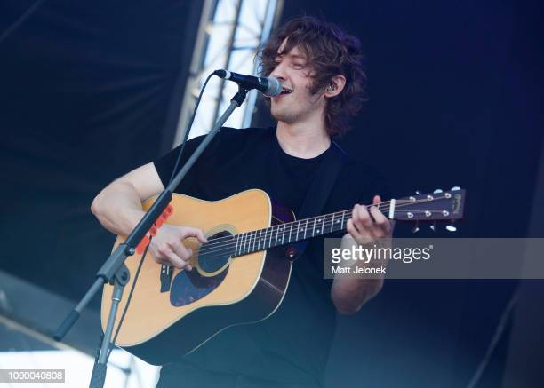 Dean Lewis performs at Falls Festival on January 5 2019 in Fremantle Australia