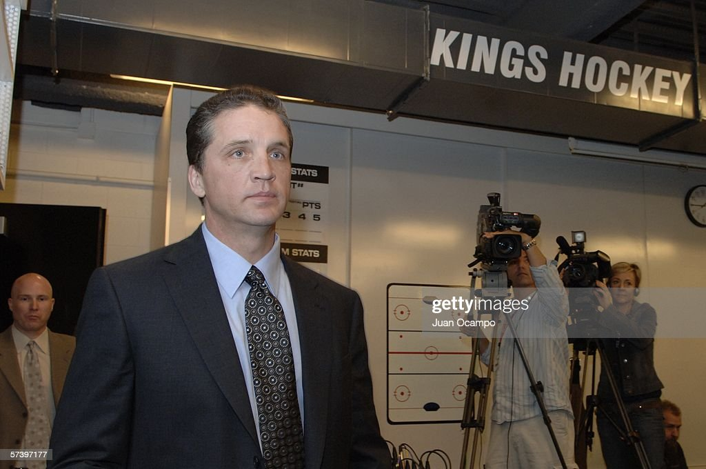 Dean Lombardi is named President and General Manager of the Los Angeles Kings during a press conference on April 21, 2006 at the Toyota Sports Center in El Segundo, California.