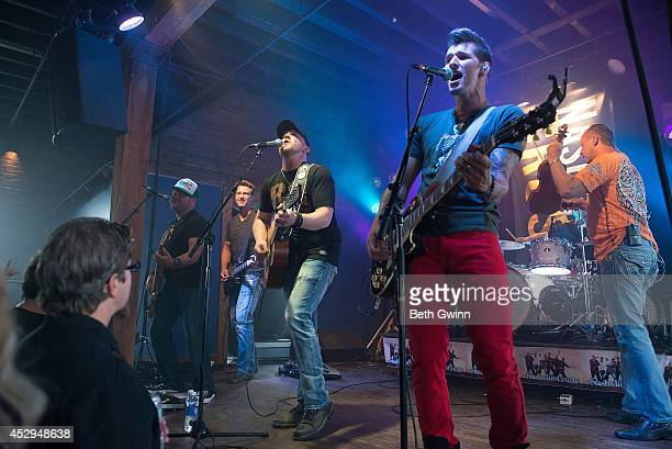 Dean Maag, Travis Hortsman, Brad Wright, Marshall Miller, and Mike Wright perform at the Nashville Crush showcase at The High Watt on July 30, 2014...