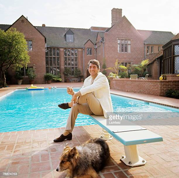 Dean Martin American singer film actor and comedian photographed at home in California in October 1974