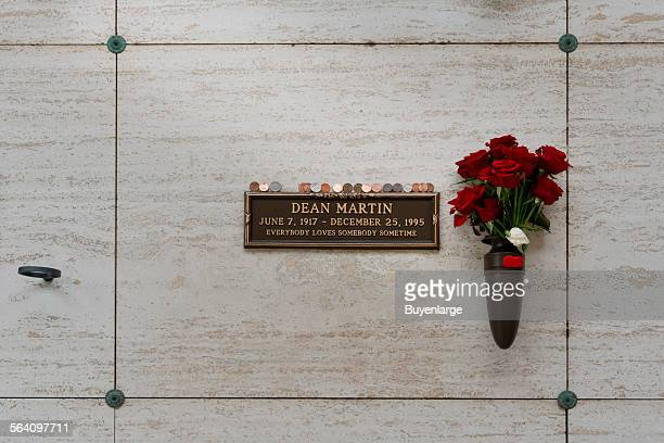 Dean Martin grave in Westwood Cemetery Los Angeles California