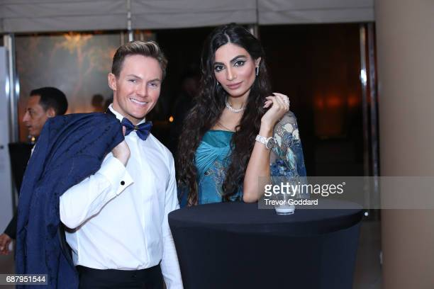 Dean McCarthy and Rafeea Alhajsi at the Arab Fashion Week Ready Couture Resort 2018 Gala Dinner on May 202017 at Armani Hotel in Dubai United Arab...