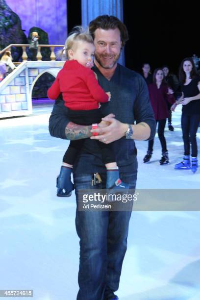 """Dean McDermott and daughter attend Disney On Ice Presents """"Rockin' Ever After"""" Premiere/Skating Party at Staples Center on December 12, 2013 in Los..."""