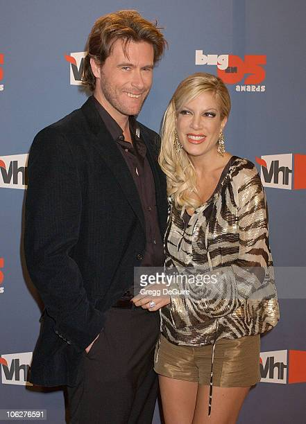 Dean McDermott and Tori Spelling during VH1 Big in '05 - Arrivals at Sony Studios in Culver City, California, United States.
