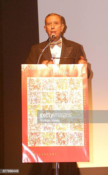 Dean Mitch Maidique during The 2003 Miami International Film Festival The Other Side of the Bed Premiere at Gusman Center for the Performing Arts in...